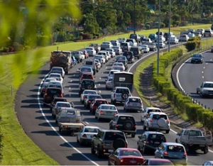 Bruce Highway peak hour traffic in Cairns